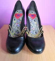 Crne cipele, zlatni kajsevi,Rocket Dog, vel.39