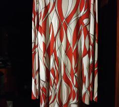 Tunika majica haljina crveno bež belo xxl 44