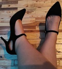 Crne elegantne salonke  sa kaisem