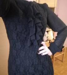 Svecana crna haljina, cipka i karneri