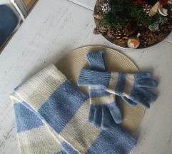 Komplet šal i rukavice