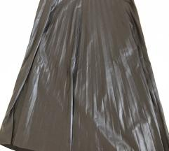 Plisirana kozna suknja S/M velicina