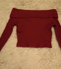 PinUp Bluza dugih rukava spustenih ramena