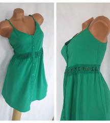 ASOS ✪ smaragd zelena mini haljina ✪ INDIA NOVO