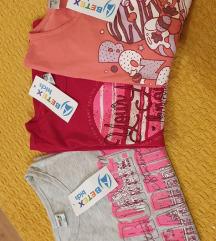 3 majce za devojcicu vel 10 NOVO SA ETIKETOM