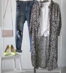 Rezz duga Reserved haljina u leopard printu