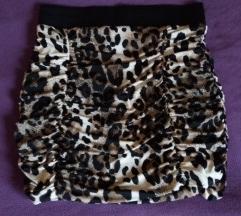 QUIZ mini suknja leopard dezen NOVO!