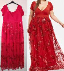 Svecana crvena haljina