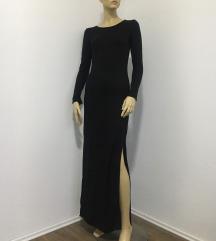 Dugacka crna pamucna haljina