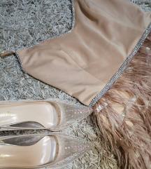 Dodatne slike haljina sa perjem kao iv ice