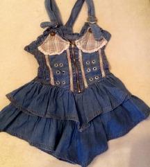 Letnja teksas haljinica za devojcice
