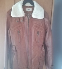 Braon ženska jakna od eko kože