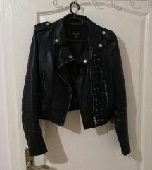 Biker crna kožna jakna, oštećenje unutra