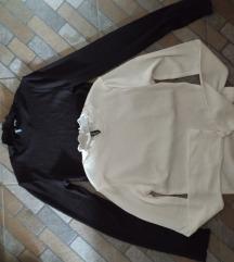 crna i bela croptop elegantnija majica
