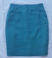 Zelena lanena mini suknja, vel. XS/S