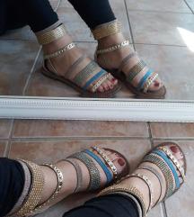 Sandale nove 38 kozne SADA 2500
