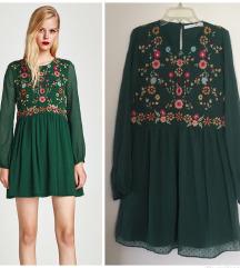 zara zelena haljina vez ❤️ 💚❤️💚 snizeno