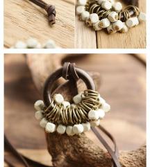 NOVA boho ogrlica podesiva, sa grozdom perlica