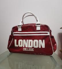 Velika crvena London torba