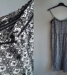 H&M midi haljina sa kopcanjem i slicevima, 40