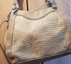 Siva lakovana torba Snizeno❗