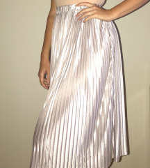 ZARA metalik plisirana suknja