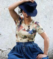 Vintage cowgirl dezenirana bluza