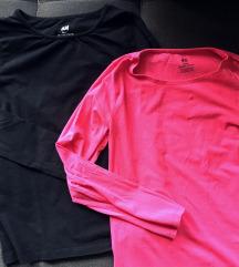 2 h&m bluze-majice, vel 134/140