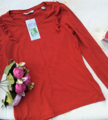Women by Tchibo pamučna crvena bluza Nova sa etike
