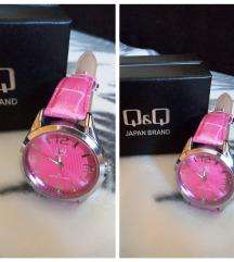 Q&Q ručni ženski sat, rozi