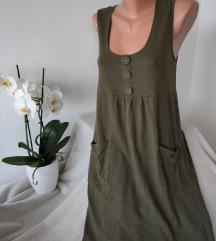 Maslinasto zelena haljina vel 38