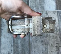 Nov srebrni 100% koza kais