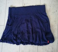 Kraljevsko plava balon suknja XL