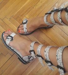 Top!!! Mocne kozne Chic sandale-rimljanke