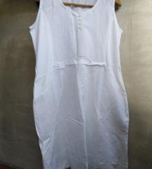 bela lan haljina tunika