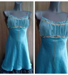 Plava spavacica od ciste svile