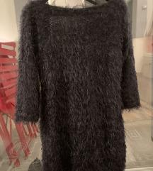 Crna cupava haljinica - novo