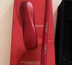 Kiko crveni ruz+olovka set NOVO