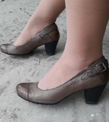 TAMARIS kozne smedje cipele NOVE
