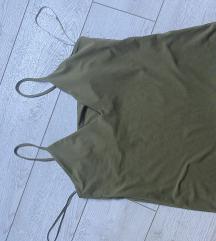 Maslinasto zelena majica na bretele