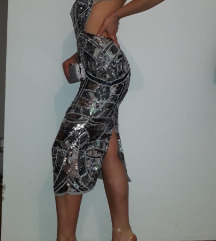 ASOS srebrna haljina
