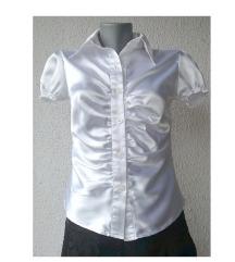 bež satenska košulja bluza broj S ili XS