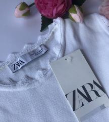ZARA bela bluza  nov sa etiketom