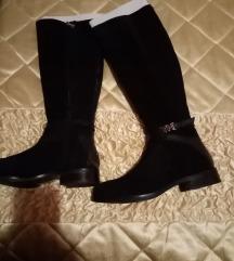 TOMMY HILFIGER crne kozne cizme 40, nove