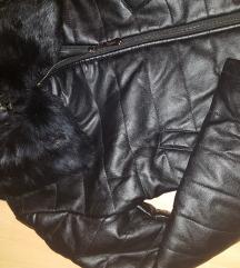 Kozna zimska jaknica ..vel..S..prirodno krzno