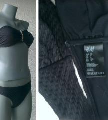 kupaći kostim bikini crni 38 i 75B H&M