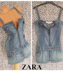 TRAFALUC ✱ denim top dress ✱ ZARA