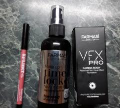 Farmasi puder,fixator i olovka za usne NOVO