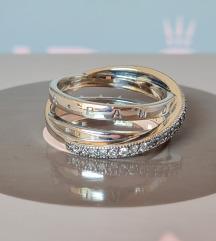 PANDORA Trostruki trakasti prsten