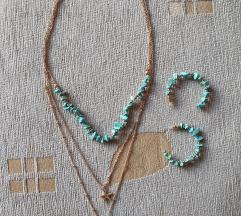 Set ogrlica i minđuše